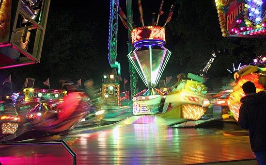 Funfair, Party, Evening, Carousel, Entertainment