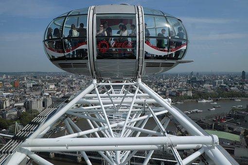 London, Eye, Giant, Ferris, Wheel, Tourist, Uk, 2000