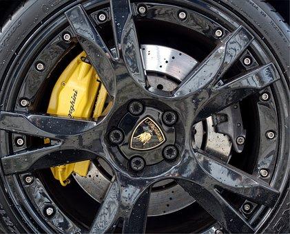 Lamborghini, Wheel, Car, Brakes, Fast, Sports, Supercar