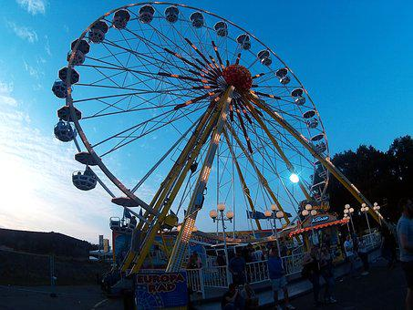 Ferris Wheel, Festival, Sky, Abendstimmung, Twilight