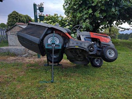 Tractor, Lawn Mower, Elevator, Field