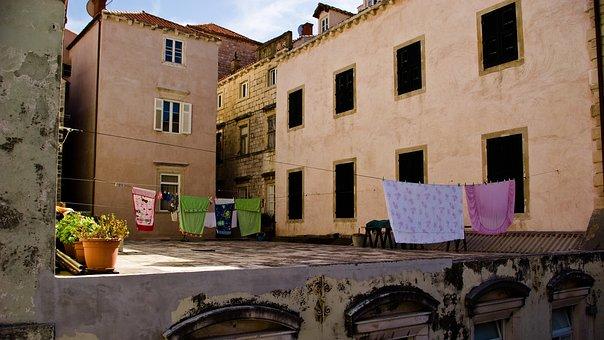 Flowers, Unesco, Windows, Shutters, Laundry, Mushroom
