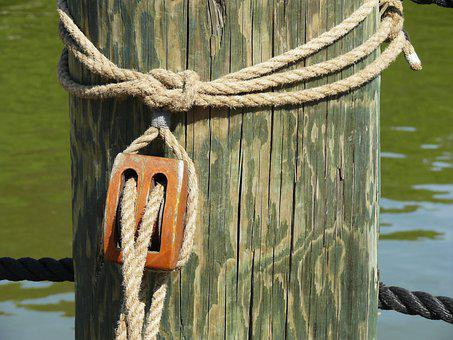 Rope, Pulley, Equipment, Knot, Metal, Climbing, Gear