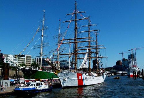 Hamburg, Port, Elbe, Landungsbrücken, Hamburg Port