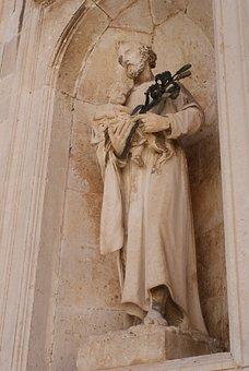 Holy, Anthony Of Padua, Padua, Dubrovnik, Figure, Lily