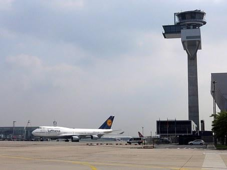 Lufthansa, Tower, Air Traffic Control, Airport