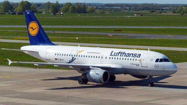 Aircraft, Landing, Airport, Lufthansa, Fly, Travel