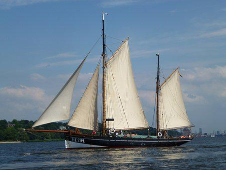 Cutter, Sailing Vessel, Elbe, Maritime, Seafaring, Ship