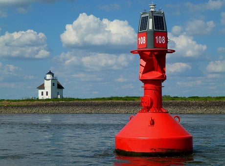 Elbe, Romance, Mood, Navigation, Ton, Boje, Red