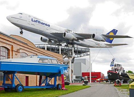 Boeing 747, Jumbo Jet, Museum, Outdoor Area, Aircraft