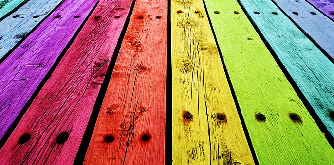 Boards, Wooden Tables, Background, Colors, Red