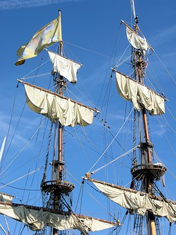 Rigging, Sail, Boat, Ship, Sailboat, Vessel, Nautical