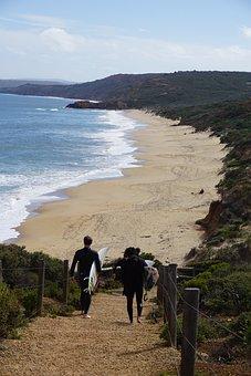 Bells Beach, Surfers, Australia, Beach, Sand, Wave