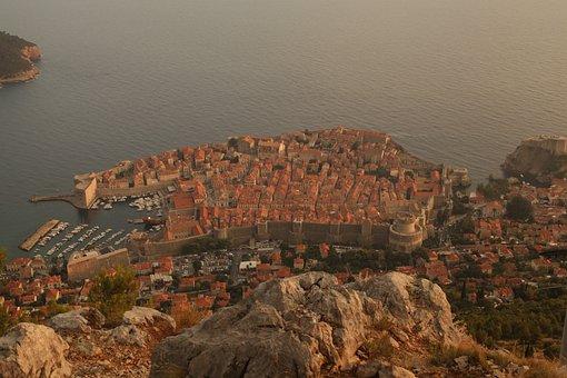 Croatia, Dubrovnik, City, Fortress, Sea, Houses