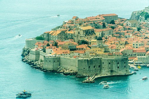 Croatia, Dubrovnik, Fort, Old, City, Sea, Fortress