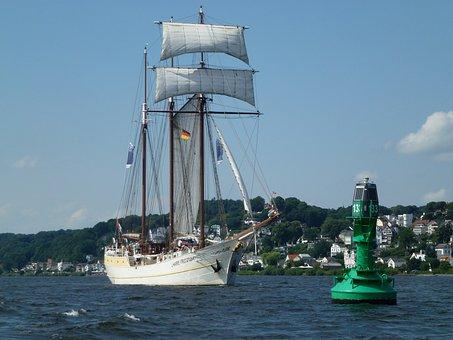 Elbe, Seafaring, Daymark, Lighthouse, Beacon, Ton