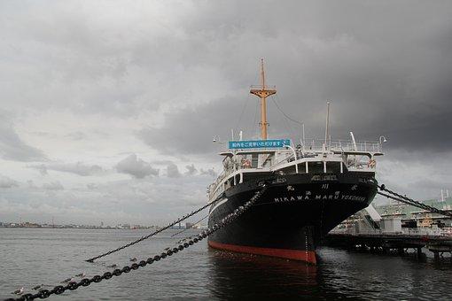 Museum Ship, Ocean Liner, Berthed, Ship, Yamashita Park