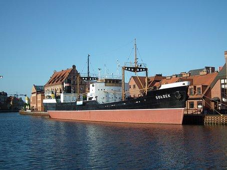 Gdańsk, Sołdek, Ship, Tourism, The Old Town