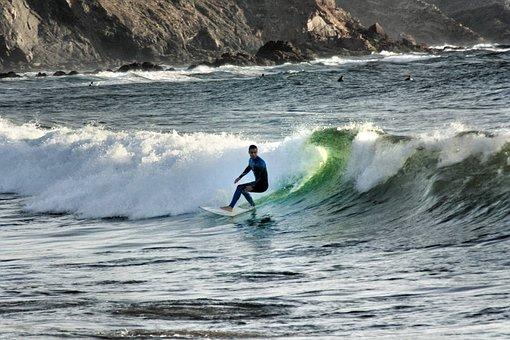 Surf, Sea, Wetsuit, Beach, Surfboard, Water Sports