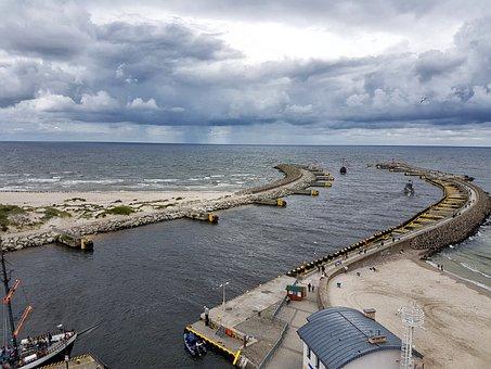 Kołobrzeg, Beach, The Coast Of The Baltic Sea, Poland