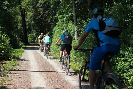 Leisure, Vacations, Sport, Cyclists, Wheel, Drive, Tour