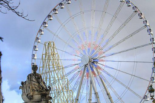 Paris, Victory Square, France, Farris Wheel, Round