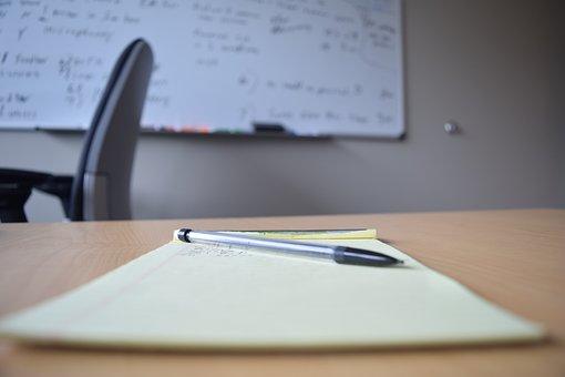 Office, Notepad, Whiteboard, White Board, Desk, Space