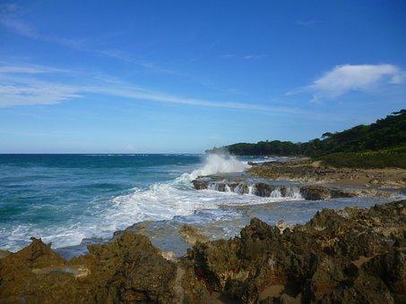 Dominican Republic, Ocean, Sea, Beach, Seascape, Sky