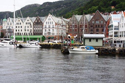 Norway, Mountains, Tyske Bryggen, Homes