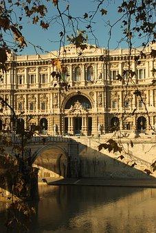 Rio, Bridge, Rome, Italia, For Antico