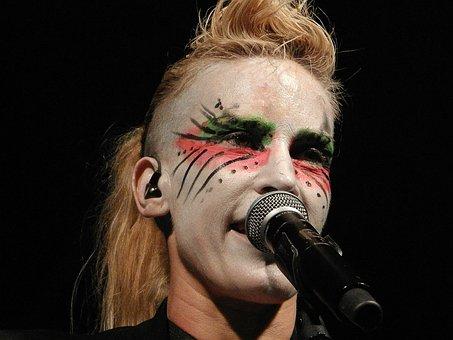 Singing, Concert, Woman, Makeup