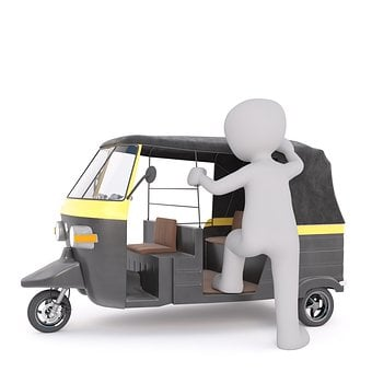 Tuk Tuk, White Male, 3d Model, Isolated, 3d, Model