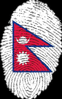 Nepal, Flag, Fingerprint, Country, Pride, Identity