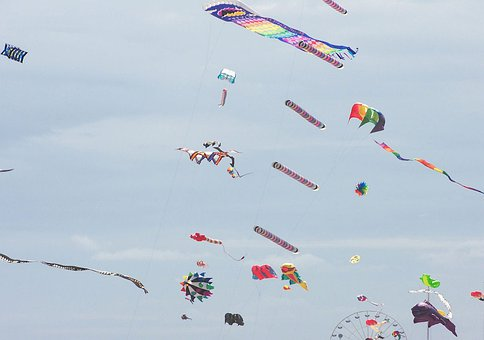 Kites, Colorful, Fun, Flying, Wind, Outdoor