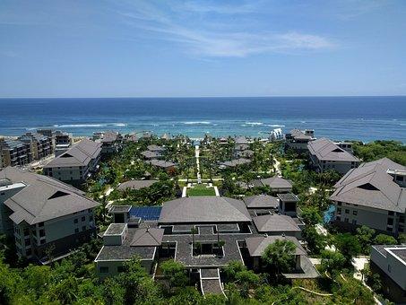 Bali, Indonesia, Hotel, Horizon, Landscape