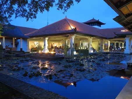 Hotel, Bali, Night View