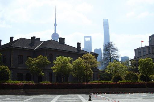 Building, Briks, Shanghai, China