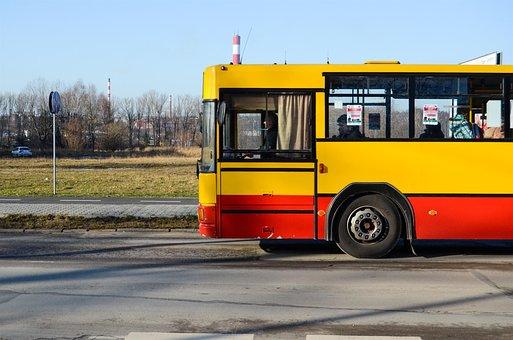 Bus, Communication, Urban, Yellow