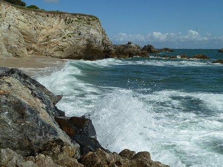 Atlantic, La Turballe, Wave, Surf