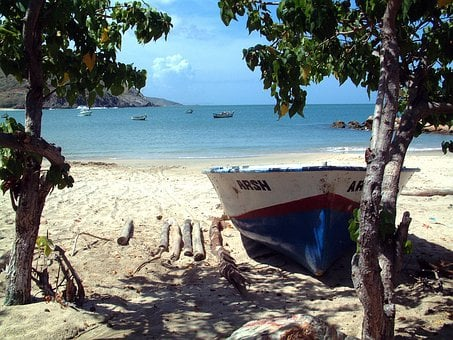 Venezuela, Boat, Sea, Ocean, Water, Sky, Clouds, Scenic
