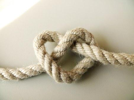 Rope, Heart, Love, Symbol, Knot