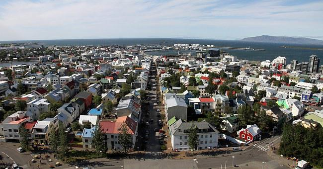 Reykjavik, Iceland, City, Panorama, Architecture, Urban