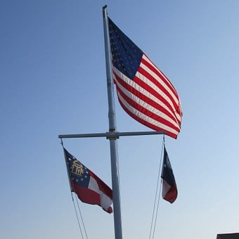 American Flag, Flag, Nautical, Georgia, Usa, Symbol