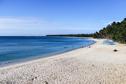 Pagudpud Beach, Beach, Blue Sky, White, Sand, Sea