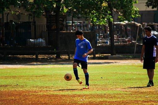 Soccer, Football, Ball, Player, Man, India, Practice