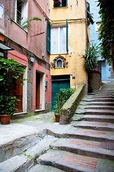 Pastel, Italy, Lake Cuomo, Terracotta, House, Italia