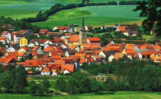 Burglauer, Bavaria, Germany, Town, Village, Valley