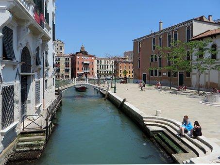 Venice, Rio, Bridge, Wharf, Piazetta, Water's Edge
