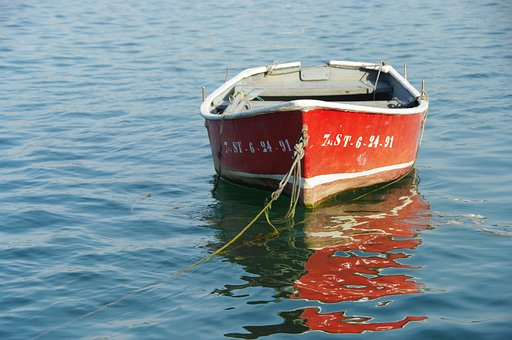 Boat, Sea, Water, Ocean, Travel, Red