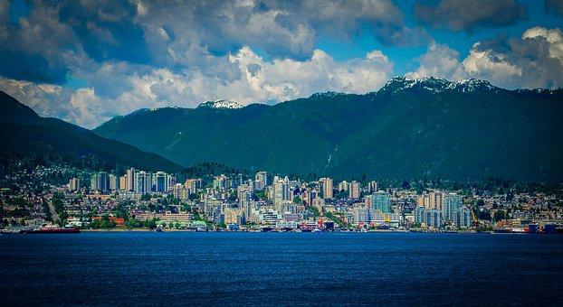 Vancouver, Canada, British Columbia, Water, Buildings